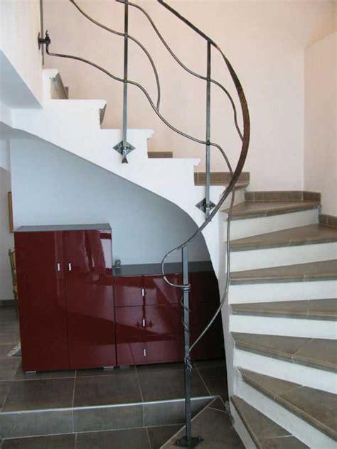 escalier bois avec re fer forge la forge aux oliviers ferronnerie d 34710 lespignan