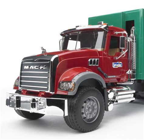 bruder toys mack granite garbage truck ruby green