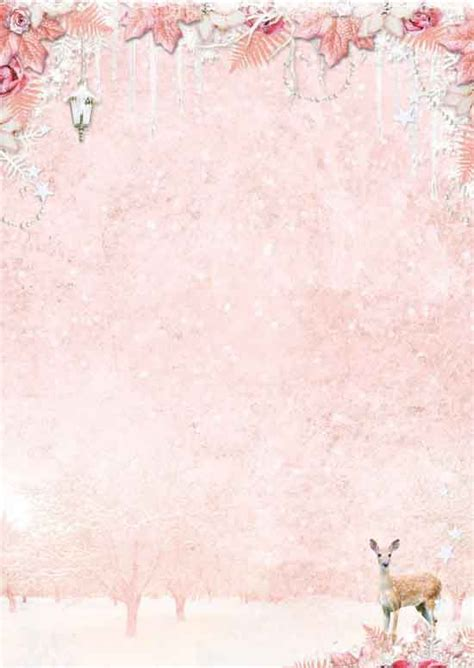 Sweet Winter Season Background Paper Double Face A4