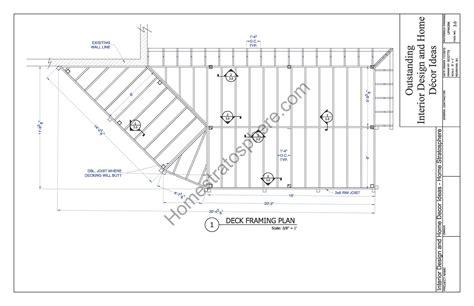 deck span tables tub 2 level deck plan blueprint free pdf