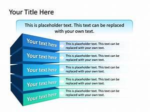 Powerpoint Slide - Block Diagram - Multicolor - 5 Blocks