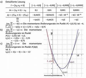 Momentane änderungsrate Berechnen : momentane nderungsrate 2 1 aufgaben fit in mathe online ~ Themetempest.com Abrechnung