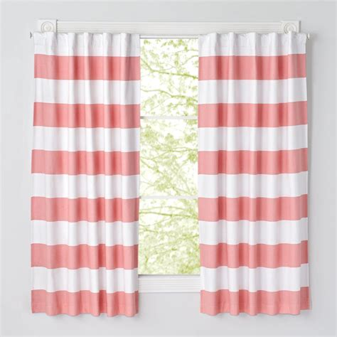set of 2 cabana stripe pink blackout curtains the land