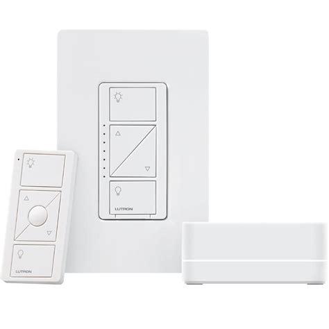 lutron caseta fan control lutron caseta wireless dimmer kit with smart bridge