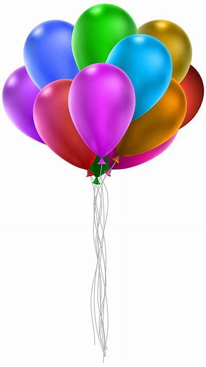 Clip Balloons Balloon Bunch Clipart Transparent Strings
