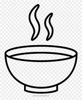Soup Coloring Bowl Drawing Sopa Noodle Colorear Para Clip Dibujos Clipart Bowls Jing Fm sketch template