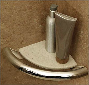 corner shelf grab bar  bathrooms  showers