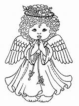 Angel Coloring Christmas Pages Printable Holiday Bright Choose Colors Favorite sketch template