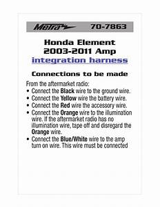 Metra Wire Harness Instructions