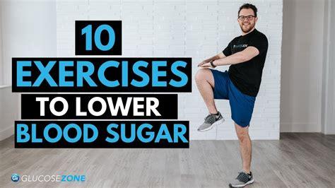 light exercises   blood sugar levels