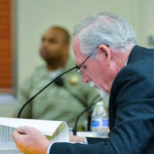 defense attorney tom allen reviews documents tuesday
