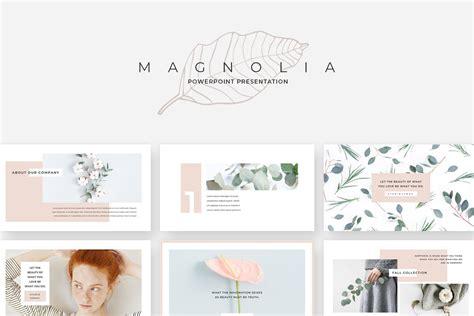 magnolia powerpoint   vector art psd