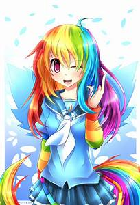 MLP Gakusei : Rainbow Dash by Fenrixion on DeviantArt
