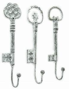 Shabby Chic Hooks : shabby chic decor vintage oversized key hooks set of 3 new ebay ~ Markanthonyermac.com Haus und Dekorationen
