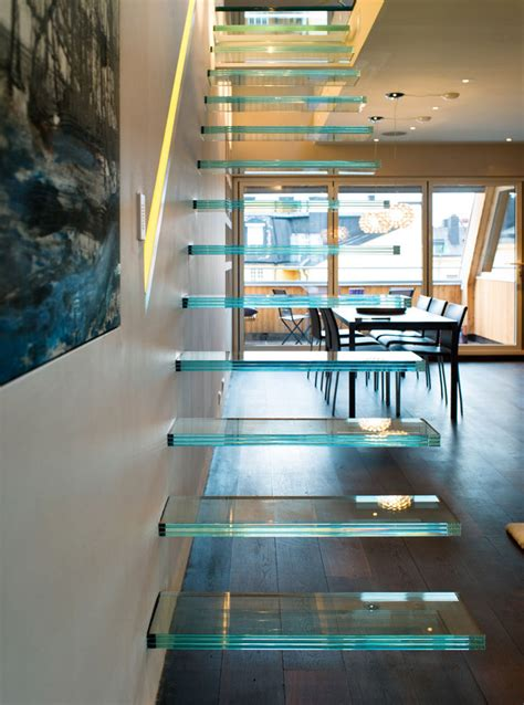 elegant modern penthouse  glass theme idesignarch