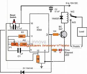 simple adjustable industrial timer circuit With time relay circuit