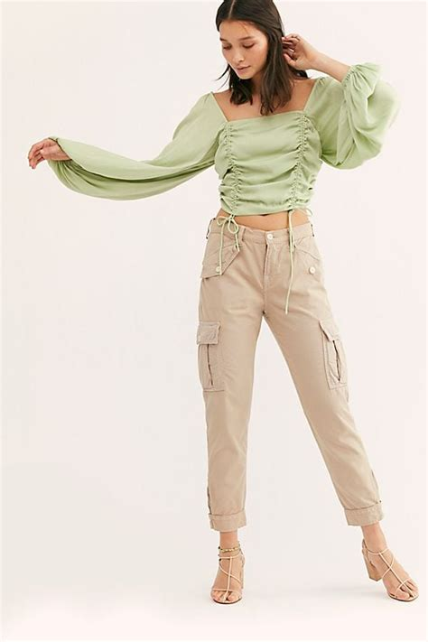 Free People Relaxed Fit Cargo Pants | Kendall Jenner Cargo ...