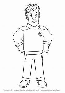 Learn How To Draw Ben Hooper From Fireman Sam Fireman Sam