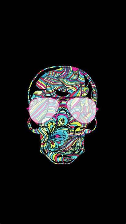Neon Wallpapers Skull Skulls Fondos Gratis Descargar