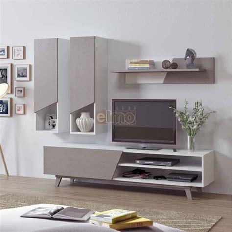 destockage meuble cuisine meuble tv composition tv contemporain bois gris blanc line