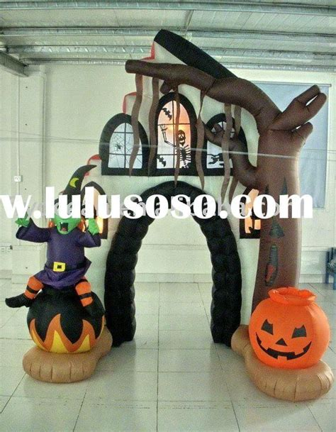 inflatable halloween haunted house pumpkin  witch