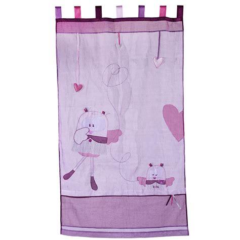 rideau pour chambre de fille mam 39 zelle bou rideau organdi 105x180 cm de sauthon baby