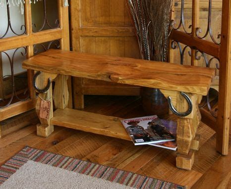 custom  hand carved rustic style butt bench  moss