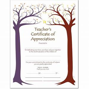 Sample certificate of appreciation for teachers just bcause for Certificate of appreciation for teachers