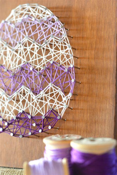 artistic home decor diy easter egg string home decor craft