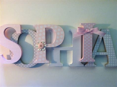 Decoration Wooden Letters For Nursery  Nursery Ideas
