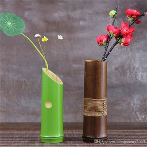 Wholesale  Handmade Bamboo Decorative Vases For Home