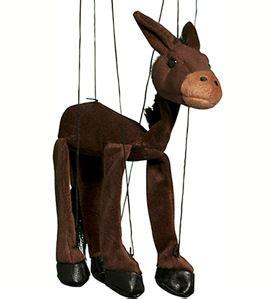 Donkey plush Marionette by Sunny - WB390