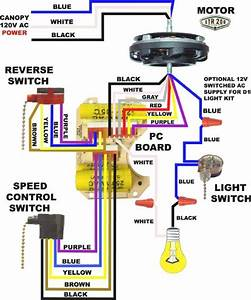 Hunter ceiling fan light wiring diagram