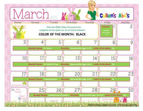 preschool calendars preschool and children s 159 | March201312