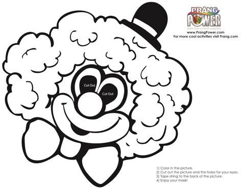 clown mask template clown mask page coloring pages