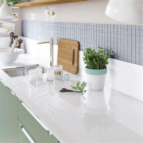 plan de travail cuisine blanc laqué plan de travail sur mesure verre laqué blanc ep 15 mm