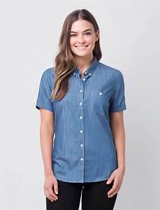 Womenu0026#39;s Short Sleeve Bailey Denim Shirt