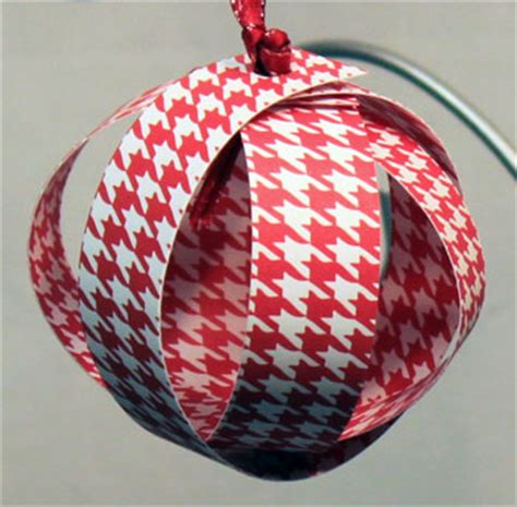 funezcrafts easy christmas crafts paper sphere ornament