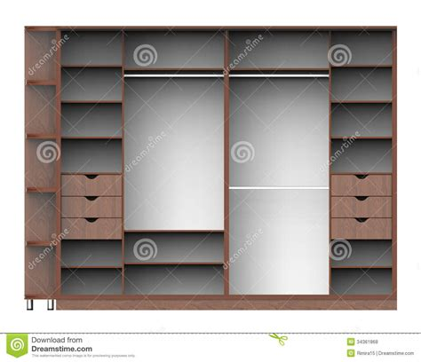 wardrobe  shelves stock illustration image