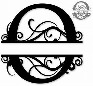 quotoquot split monogram silhouette pinterest silhouette With letter o monogram