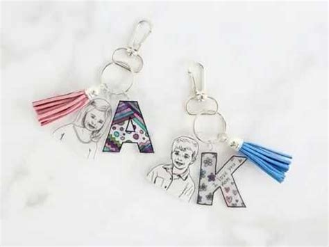shrinky dink keepsake keychains unique personalized gift