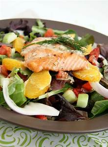 Mediterranean Salad with Grilled Salmon and Dijon-Dill ...