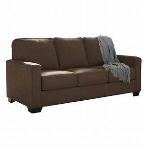 Ashley zeb full sleeper sofa in espresso 3590336 for Ashley sleeper sofa