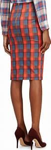 Lyst - Altuzarra Red And Blue Plaid Djinn Pencil Skirt in Blue