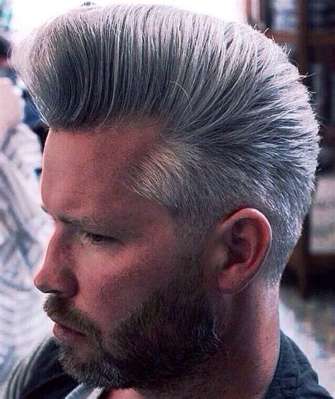 grey bouffant  men professional hairstyles  men mens hairstyles professional hairstyles
