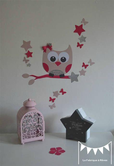 toile chambre fille dcoration chambre enfant fille stickers hibou