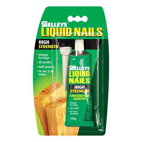 liquid nails selleys liquid nails 100g original construction adhesive bunnings warehouse