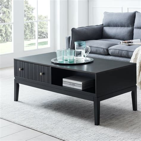 Woven area rug built in bookshelves wood. Elegant Home For You Black Coffee Table With Storage Shelf And 2 Drawer For   eBay