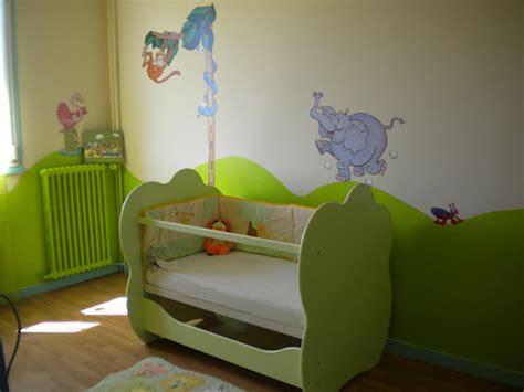 chambre bébé vert et blanc la chambre de bébé