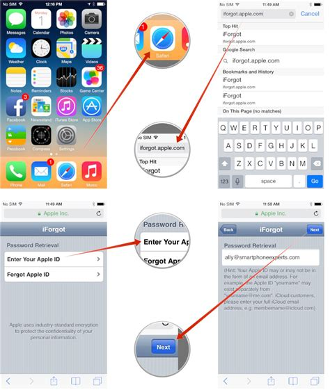 how can i free on my iphone how to reset a forgotten icloud itunes or app